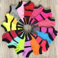 EE. UU. Fashion Pink Black Socks Adulto Algodón Cajas cortas Tobillo Sports Basketball Fútbol Adolescentes Aumeros Chicas Mujeres Calcetines con etiquetas