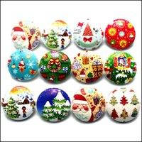 Charm Bracelets Jewelrynoosa Snap Jewelry 100Pcs Lot Mixed Snaps Buttons 18Mm Christmas Glass Noosa Button Diy Bracelet Drop Delivery 2021 E