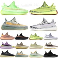 2021 Tereyağı Susam 35 V2 Statik Koşu Ayakkabıları Erkek Sneakers Mavi Renk Tonu Üçlü Beyaz Bayan Zebre Bred Eğitmenler Size36-45 TE01