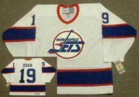 Winnipeg Jets 1995 CCM 빈티지 멀리 # 91 Kris Draper # 35 Nikolai Khabibulin # 20 Tie Domi # 19 Shane Doan Goalie Cut Hockey Jerseys