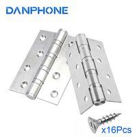 Danphone 2 pcs porta dobradiças móveis acessórios de aço inoxidável dobradiça para quarto toalete porta cozinha diy decoração acessórios