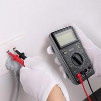 Multimeters المحمولة LCD الرقمية المتعدد AC / DC مقياس مقياس المقاومة اختبار متعدد الأضواء الخلفية الحالية مضيئة