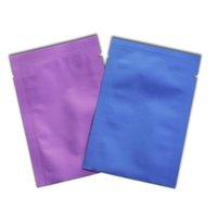 Mat Açık Mor Isı Mühür Açık Üst Saf Alüminyum Paketleme Çanta Vakum Mylar Folyo Saklama Torbaları Gıda Kozmetik Maske Ambalaj Için