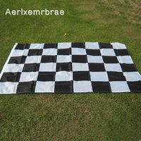Флаги баннера Aerlxemrbrae 3 * 5FT Racing Flag Висит гоночный клетчатый флаг