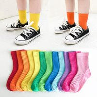 Socks 1-12 Y Baby Kids Girl Boy Children Candy Color Toddler Sock Soft Cotton Girls Cute Solid Tube