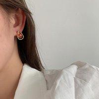Stud VE-21 Japanese And Korean Style Geometric Water Drop Resin Earrings Simple Fresh Niche Fashion Design