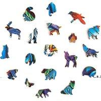 NewA5 Puzzle de madera Rompecabezas Mejor regalo para adultos y niños Regalos creativos para niños Forma única Piezas de rompecabezas Guarding Dragon EWF5760