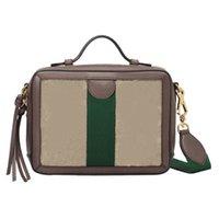 مصمم حقيبة يد السيدات الفاخرة حقائب اليد 2021 الأزياء G- سلسلة حقيبة واحدة الكتف الرجعية أكياس مربع صغير عبر الجسم محفظة حقيبة الظهر البني الجلود الأخضر المشارب الحمراء المحافظ