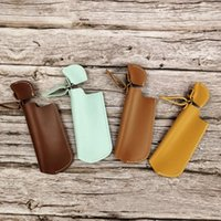 Cool Colorful Smoking PU Leather Portable Outdoors Stretch Lighter Protect Case Sleeve Holder Cover Shell Innovative Design Skin Casing Cigarette Tool DHL Free