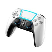 RALAN P03 Wireless Bluetooth Game Controller Gamepad With RGB Light Touchpad Back Key Support 3D Joystick Turbo for PS3 PS5 PS4 Android