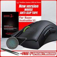 Hotline Games Mouse Anti-Slip Tape for Razer Deathadder V2 Sweat Resistant Pads Side Stickers Skates H0826