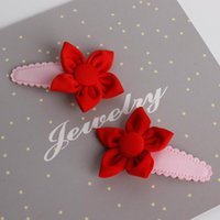 Hair Accessories Children Headdress Clip Girl Side Clamping Half Cloth Baby Hairpin Flowers Acessorio De Cabelo T