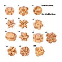 IQ Cérebro Teaser Kong Ming Lock 3D Wooden Interlocking Burr Puzzles Jogo Brinquedo Para Adultos Crianças