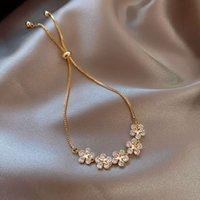 Korean zircon flower bracelet women's net red Bracelet
