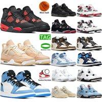 패션 미사 레드 4 4 초 남성 여성 농구 신발 흰색 시멘트 순수한 돈을 자란 운동화 스포츠 신발 크기 7-13