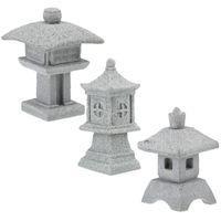 ديكورات الحديقة 3PCS التماثيل الإبداعية الصغيرة حجر الرملي الزينة جناح الديكورات