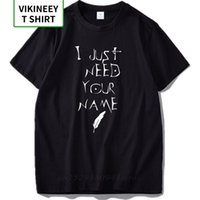 Camiseta de la nota de la muerte Solo necesito su nombre letra Imprimir camiseta anime transpirable 100% algodón hip hop tee shirt 210706