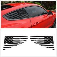 Ford Mustang 2015-2020 Amerikan Bayrağı için Araba Arka Çeyrek Pencere Dekorasyon Çıkartmalar