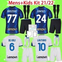 الكبار + Kids Kit مع السراويل والجوارب مجموعات الأولاد Inter 2021 2022 Lukaku Soccer Jerseys رجالي الدعاوى Barella de Vrij 21 22 قمصان كرة القدم للأطفال Lautaro Milan Alexis Eriksen