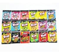16 Types mylar bag trolli trrlli Errlli edibles Gummies packaging smell proof resealable zipper pouch 600mg custom logo 2021 sdgg
