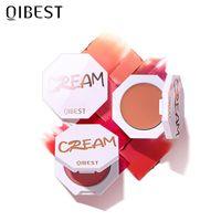 QiCest Face Matte Blush 팔레트 6 색 뺨 블러셔 분말 메이크업 루지 미네랄 안료 화장품 오래 지속되는 자연 메이크업