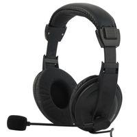 Fones de ouvido fones de ouvido com fio negócio Bass estéreo fone de ouvido jogo com microfone para pc laptop celular mp3 reunião