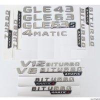 رسائل الجذع كروم شارة شعار الشعارات ملصق لمرسيدس بنز gle43 gle63 gle63s v8 v12 biturbo 4matic amg