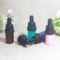 Aufbewahrungsflaschen Gläser 5ml leerer Kunststoff ätherisches Öl kosmetische Parfüm-Dropper-Fläschchen-Glas-Pipetten-Duft