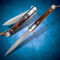 다마스커스 스틸 접이식 나이프 베어링 빠른 오픈 포켓 펜 나이프 EDC 사냥 도구 야외 낚시 전술 멋진 칼을 싸우는 캠핑 생존 자기 방어