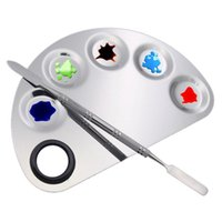 Nagelkunst-Kits Edelstahl Mischpalette polnische Platten-Makeup-Foundation Lidschatten-Spatel-Tool