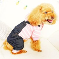 Dog Apparel Autumn Winter Clothes For Dogs Warm Stripe Jumpsuit Teddy Poodle Puppy Rompers Hooded Coat XS S M L XL