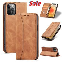 Leather Flip Case for iPhone 6 6s 7 8 11 12 13 Mini Pro PLUS X XS Max XR Luxury Wallet Cards Stand Phone Bags Cover