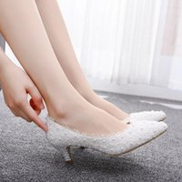 Dress Shoes Kitty heels with pink lace, two inches, party, wedding, bridesmaids, girls'shoes W8TW