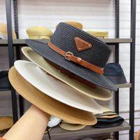 Chapeau de concepteur chapeau de godet triangle large bord bronge hommes hommes femmes ajustées chapeaux de haute qualité paille chapeaux soleil