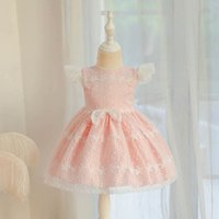 Girls Dresses Baby Girl Dress Kids Clothes Embroidered Princess Lace Party Child Clothing Flower Wear B7448
