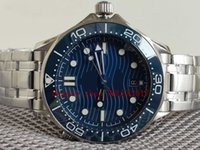 Men's blue ceramic Dial CAL.8800 movement 316L Stainless Steel Strap WATCH 600M Automatic 007 Best Quality Luxury Watches