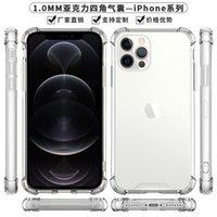 Caja de acrílico Hybrid Hard Hard PC 1,0 mm para el marco suave de iPhone 12 cubierta a prueba de golpes para Samsung Funda transparente