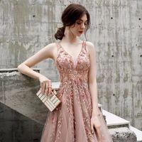 2021 Spring Dress Elegant Host High-Down Women's Long Fashion European Style