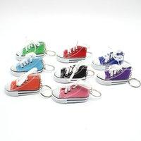 7 اللون قماش 3d حذاء رياضة المفاتيح الجدة حلقة الأحذية مفتاح سلسلة حامل حقيبة يد قلادة تفضل