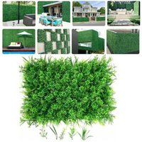 Decorative Flowers & Wreaths Artificial Lawn Hydrangea Plant Flower Panel Wedding Party Background Wall Fence Greenery Fake Grass Mat For Ho
