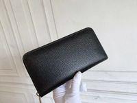 Klassische Herren Standard Brieftaschen beschichtete Leinwand Blume Print Leder Frauen Mode PU Lange Geldbörse Reißverschluss Beutel Münze Tasche Note Inhaber