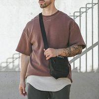 2021 HAIKYUU ASRV erkek Vintage Sıkıntılı T Shirt Yaz Boy Kısa Kollu Tişört Hip Hop Adam Nakış Tee Koszulka FNM5