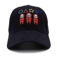 للجنسين التطريز الحبار لعبة القبعات الكرتون الأحمر مربع دائرة مثلث رياضية ملثين مطرزة snapbacks الرياضة الرياضة قبعات البيسبول الشمس قناع G016BHG