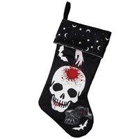 Parti Malzemeleri Cadılar Bayramı Çorap Dekor Açık Ağaç Süs Ghost Kafatası Çorap Şeker Çorap Çanta Cadılar Bayramı Hediyeler Çanta 832 B3