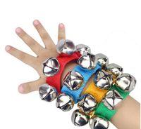 Детская рука наручные колокольчики игрушка Jingles Shake Percussion Инструмент Детские Ранние Образовательные Танцы Игрушки Игрушки Нога Белл Музыкальный инструмент YHM98-1 ZWL
