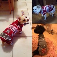 Dog Apparel Warm Clothes For Small Medium Dogs Knitted Cat Sweatshirt Pet Clothing Puppy Costume Coat Winter Overalls