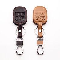 Corrente de couro genuíno capa cadeia chave de controle remoto para ford explorer transponder chave tither 5 botões L1569 Keys Acessórios