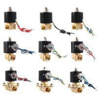 """Equipamentos de rega Válvula de solenóide elétrica 1/4 """"3/8"""" 1/2 """"3/4"""" 1 """"1,25"""" normalmente fechado pneumático para o gás de óleo de água 12/24 / 220V"""