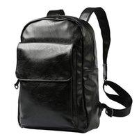 Backpack Stylish Men Soft PU Leather Bagpack Korean Business Mochila Masculina Travel Mochilas Para Hombre Back Pack Plecaki