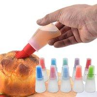 Spazzola per bottiglia di olio in silicone cottura Bbq Bbq Bruscting Brush Cooking Cooking Pancake Stick Kitchen Camping Tool Strumento in silicone EWA3911